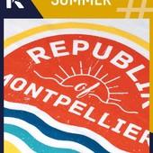 Republik Of Montpellier #SUMMER : dans la représentation collective, il n'y a pas d'ambiguïté possible : Montpellier = soleil, mais pas seulement ! C'est avant tout une grande qualité de vie facilitée par une météo quasi idéale… et la proximité du bord de mer. Le modèle #SUMMER est un véritable appel aux sourires et à la quiétude, le prochain symbole du bonheur à la montpelliéraine. Après, tout va très vite… la plage, les balades en bateau, les moments de convivialité partagés entre amis qui se prolongent dans la douceur des nuits musicales, les grands éclats de rire et les heures à refaire le monde. On retrouve tout ce bonheur, tout cet esprit de vie dans ce visuel aux couleurs et aux accents 80's. #REPUBLIKOF  #FASHIONLABEL