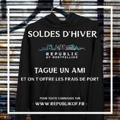 Pour les soldes, Republik Of vous offre les frais de port pour toute commande sur www.republikof.fr