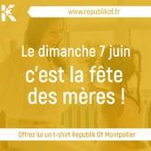 C'est bientôt la fête des mères ! Certaines aiment les fleurs, d'autres préfèrent Montpellier. Pourquoi ne pas lui offrir un t-shirt Republik Of Montpellier ?  Commandez-le en ligne sur www.republikof.fr  Pensez au délai de livraison estimé à 5 jours ouvrés !  #Republikof #Montpellier #Modeinmontpellier #Localcollection #romylooks #visitmontpellier #welovemontpellier